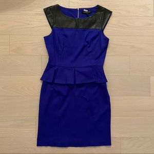 Cynthia Steffe Blue Mini Dress event/office/party